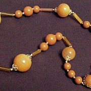 Amber Color / Tan Strand of Beads