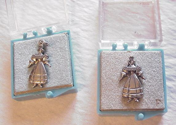 CTO Sterling Silver Queen / Princess Pin and Pendant Set