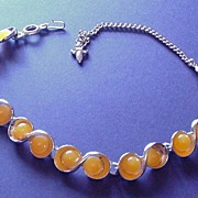 Melon Orange Figure Eight Necklace