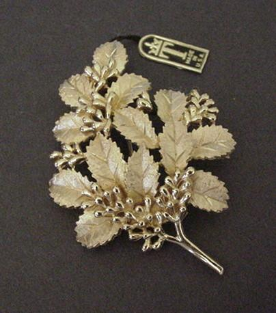Vintage Trifari Berry Pin New with Original Tag