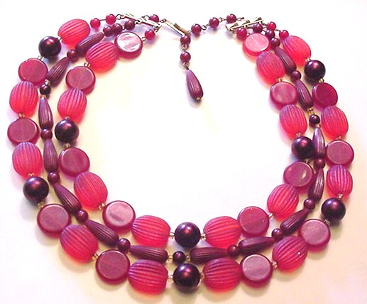 Vintage Licorice Red West Germany Necklace