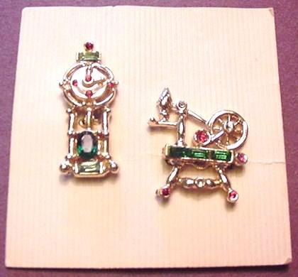 Rhinestone Scatter Pins on Original Card