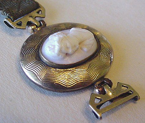 Victorian Carved Cameo with Gold Filled Findings