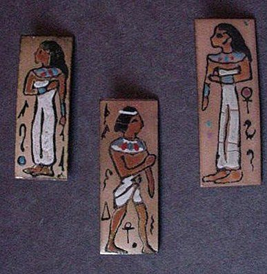 Egyptian Revival Enameled Pin Set