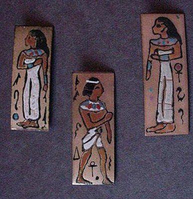 Egyptian Revival Enameled Pin Set