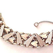 Wider Chain Link Bracelet with Hearts