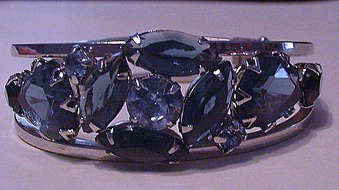 Icy Blue Rhinestone Bracelet