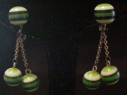 Vintage Laminate Lucite Dangle Earrings