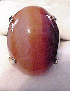 Large Vintage Banded Agate Ring