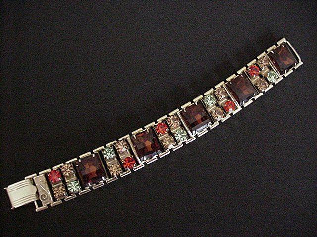 Big Bold  Colorful Rhinestone Bracelet