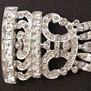 Art Deco  Rhinestones Dress Clip
