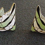 Enameled   Angelfish Earrings
