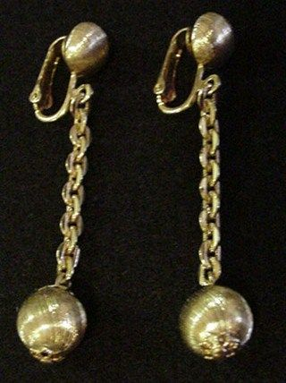 Kramer Gold Color Drop Earrings