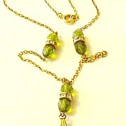 Olivine and Peridot Glass Necklace