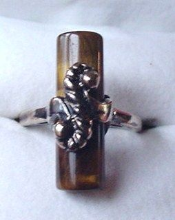 Vintage Uncas Tiger's Eye Ring