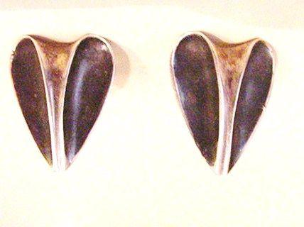 Pearson Sterling Silver  Modernist Earrings