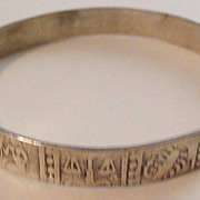 Vintage  Astrology Zodiac Bangle Bracelet