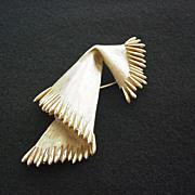Trifari Fringed Scarf / Pashmina Pin