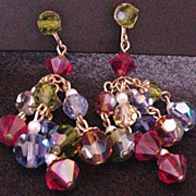 Multi Colors Crystal Drops Earrings