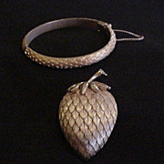 Trifari Strawberry Pin and Bracelet