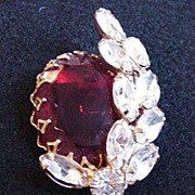 Red Rhinestone Pin