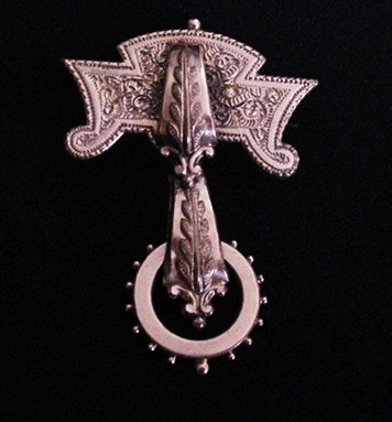 Victorian Estrucan Revival Pin