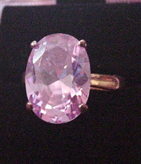 Purple Rhinestone Cocktail Ring