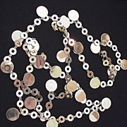 Gold Color  Circles  and disks Necklace