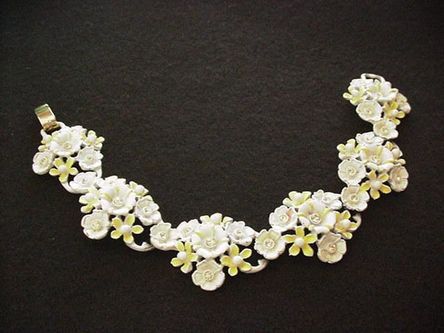 Yellow Enameled Bracelet