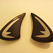 Mid Century Ebony Earrings