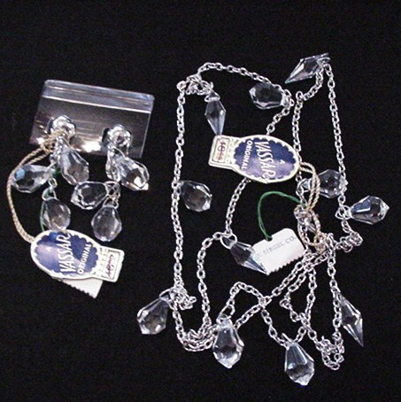 Vintage Vassar Crystal Necklace and Earrings