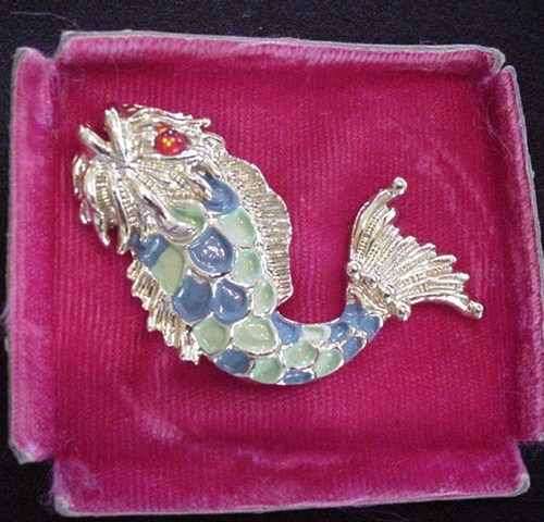 Enameled Fish Pin