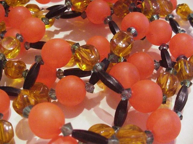 Long Strand of Tangerine and Honey Beads