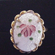 Enameled Rose Ring