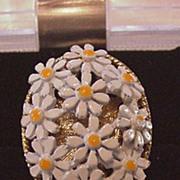 Enamel Daisies Ring