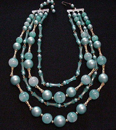 Sea Blue Beaded Necklace