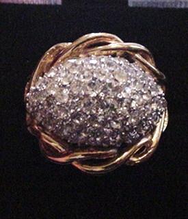 Trifari Pave Set Rhinestone Ring