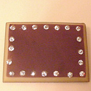 Art Deco Celluloid and Rhinestone Pin
