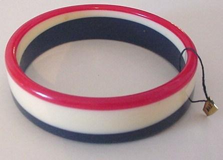 Red White and Blue Bangle Bracelet