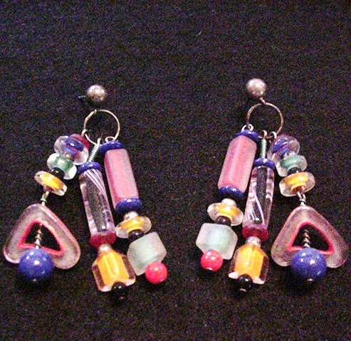 Fun Art Glass  Earrings