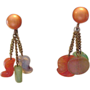 Vintage Sixties Glass Earrings