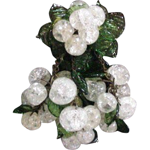 Miriam Haskell Clear Glass Pin