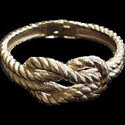 Trifari Rope Knot Bracelet