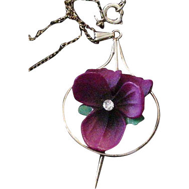 Vintage NWOT Violet Necklace