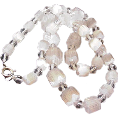 Icy Satin Glass Necklace