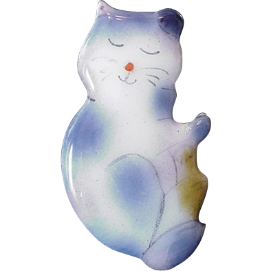 Charming Enamel Cat Pin