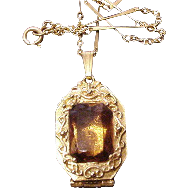 Goldette Victorian Revival Locket Necklace