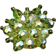 Green Crystals Pin