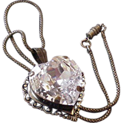 Large Glass Heart Necklace
