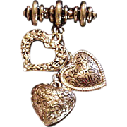 Dangling Hearts Pin